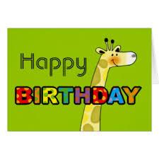 happy birthday giraffe greeting cards zazzle co uk