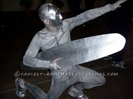 homemade silver surfer halloween costume