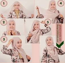 tutorial memakai jilbab paris yang simple hijab segi empat terbaru merupakan gaya hijab yang sedang populer