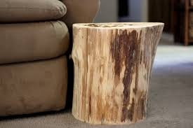 tree trunk bedside table wood stump side table add stunning and rustic look to a room