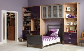 Teenager Bedroom Colors Ideas Bedroom Beautiful White Purple Wood Stainless Unique Design