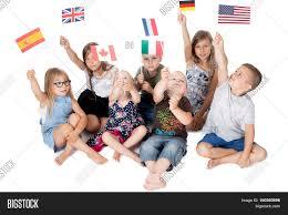 poland group holding flags image u0026 photo bigstock