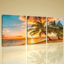 Oversized Wall Art by Huge Hd Canvas Print 7 Pieces Framed Beach Wall Art Palm Tree