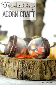 thanksgiving acorn treat craft diy catch my