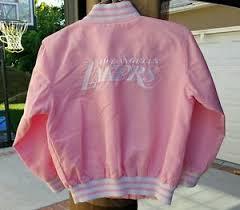 nba los angeles lakers pink varsity letterman jacket girls s 8 10 kobe