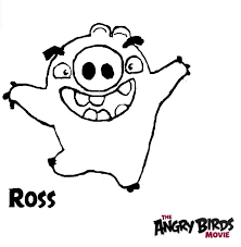 angry birds movie coloring pages ross pig angrybirdstiff