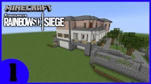 siege minecraft minecraft rainbow 6 siege house timelapse part 1