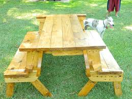 Free Wood Picnic Bench Plans by Folding Picnic Table Bench By Eddie Lumberjocks Com