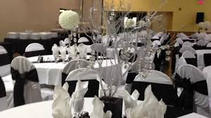 black and white themed wedding reception youtube