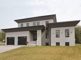 modern home plans 4 bedroom modern prairie home plan homepw75737 modern house