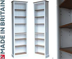Narrow Bookcases Uk 100 Solid Wood Bookcase 7ft Narrow White Painted Waxed