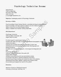 Psychology Research Assistant Cover Letter Psychology Resume Objective Virtren Com