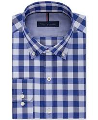 tommy hilfiger men u0027s slim fit non iron blue velvet check dress