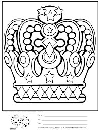 crown coloring pages letters oslava