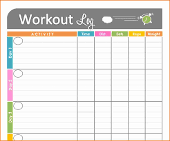 weekly activity log template