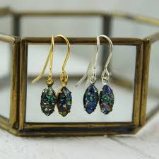green opal earrings black fire opal earrings by penny masquerade notonthehighstreet com