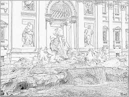 rome trevi fountain 392 11a cpf 1008 coloring pages printable