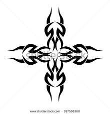 cross tattoo designs tribal cross tattoo stock vector 398347000