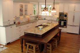 kitchen island with attached dining table magnificent l shaped