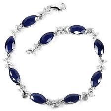 sapphire crystal bracelet images Natural marquise blue sapphire bracelet jpg