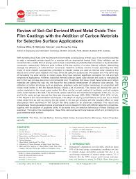 review of sol gel derived mixed metal pdf download available