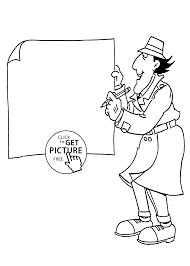 inspector gadget coloring pages inspector gadget picture coloring