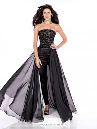 evenings by mon cheri mce21606 skirt over pants 3pc gown french