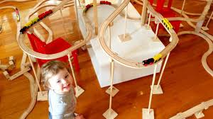 Making Wooden Toy Train Tracks by Feel Like A Run Kids Ikea Train Set Toy Train Track 26 Youtube