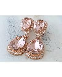 wedding earrings drop amazing deal blush earrings morganite earring gold