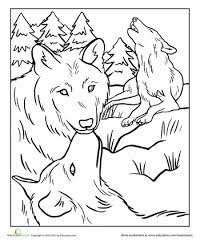 Wolf Pack Coloring Page Worksheets Wolf And Coloring Books Wolf Pack Coloring Pages
