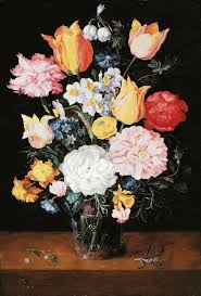 Glass Vase Painting Bouquet Of Flowers In A Glass Vase Painting Jan Brueghel Ii The