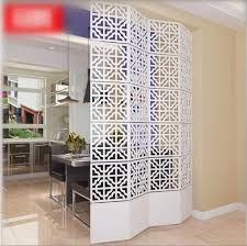modern simple a living room hanging folding screen hollow white