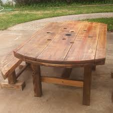 Wooden Spool Table For Sale Find More Spool Table And Bench 200 00 For Sale At Up To 90 Off