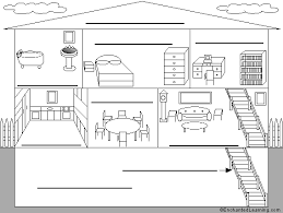 Floor Plans In Spanish Label The Rooms Of A House In Spanish Printout Enchantedlearning Com