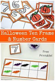 halloween activities for preschoolers printable 41 best ten frames images on pinterest