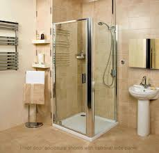 bathroom towel warmer with floating shelves and roman shower also