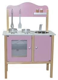 cuisine mini kidzmotion la mini cuisine wooden pretend play kitchen pink