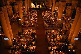 vigil lights catholic church sea of candles at easter vigil in manila cbcpnews