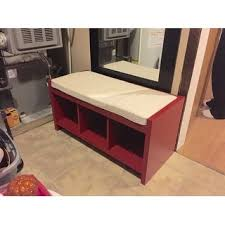 Entryway Storage Bench Ameriwood Home Penelope Red Entryway Storage Bench With Cushion