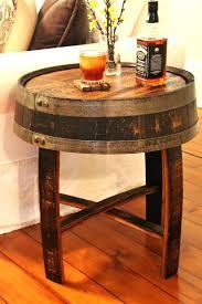 Barrel Side Table Whisky Barrel Side Table Whiskey Lowes Coffee Wine