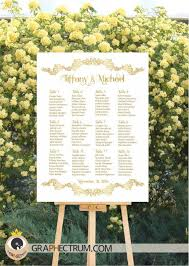 wedding table assignment board wedding seating chart diy printable floral gold crown wedding sign