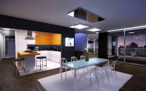 interior design kitchen living room techno style interior design ideas