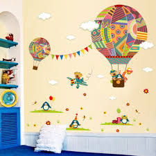 online get cheap airplane nursery aliexpress com alibaba group cartoon airplane bear hot air balloons penguin removable wall sticker nursery decals for kids room