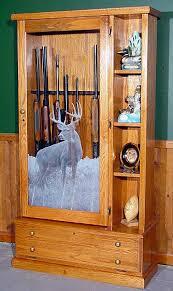 model 358 pine gun cabinet