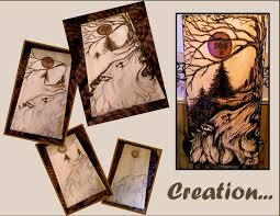 angel wings angel art wood burning tree of life art wolf art