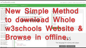 css tutorial w3schools pdf how to download a whole w3schools website and browse without