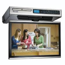 kitchen televisions under cabinet under cabinet tv a space saving option for any home kitchen