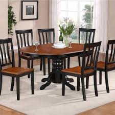 Oval Kitchen Table Sets by Casual Dining Room With Avon 7 Piece Oval Kitchen Table Set Black