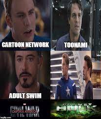 Adult Swim Meme - the civil war imgflip