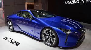 lexus lc in blue 2018 lexus lc 500h is a wonderful mechanical mishmash youtube